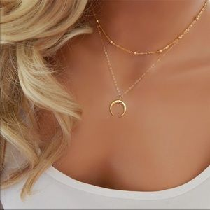 Jewelry - NEW HALF MOON GOLD MULTI LAYER NECKLACE CHAIN